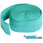Fold-over Elastic - 7/8in - Turquoise