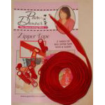 Zipper Tape 3yds/red
