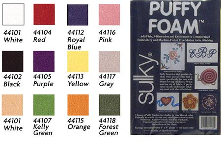 Sulky Puffy Foam 2mm White