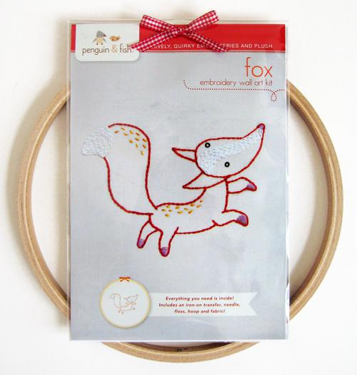 Fox Embroidery Wall Kit