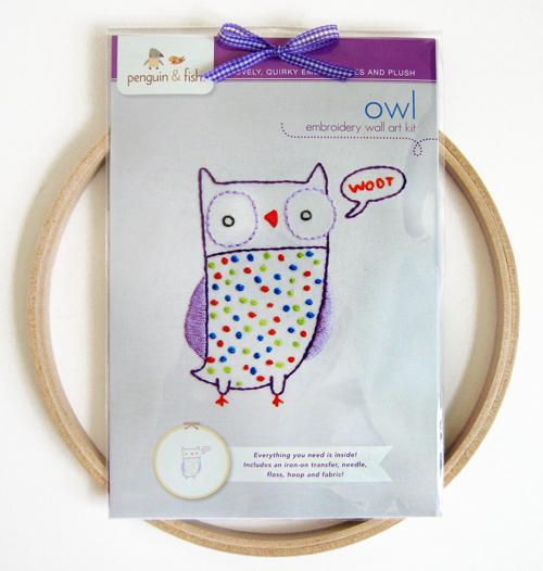 Owl Embroid Wall Kit