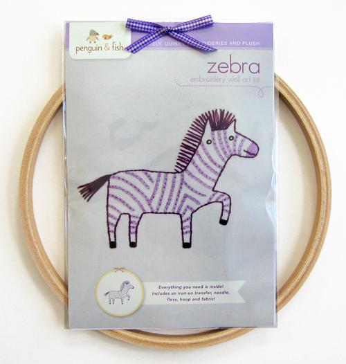 Zebra Embroidery Wall Kit