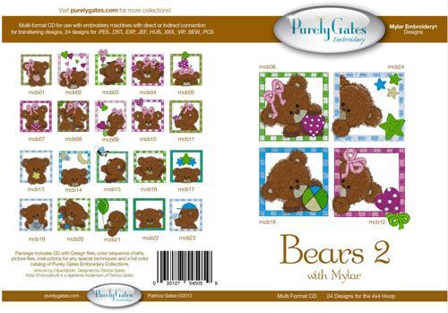 035127545059 Bears 2 embroidery