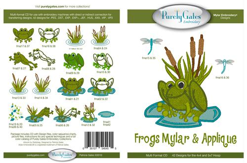 Frogs Mylar & applique