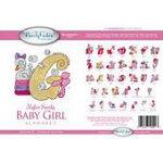 Mylar Swirly - Baby Girl Alphabet