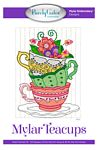 Mylar Teacups Machine Embroidery Design