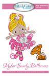 Mylar Swirly Ballerinas  Machine Embroidery Design