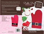 Santa Oven Mitts ITH Embroidery Design Set