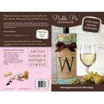 PT Monogrammed Cork Wine Bags