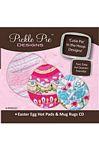Easter Egg Hot Pads & Mug Rugs Embroidery Design CD