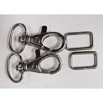 5/8 Swivel Hooks and D Rings (set of two)