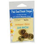3/4in Magnetic Snap SAntiGold 3/4 inch (18mm) Magnetic Snap - Antique Gold