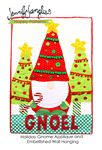 Holiday Gnome Applique and Embellished Wall Hanging