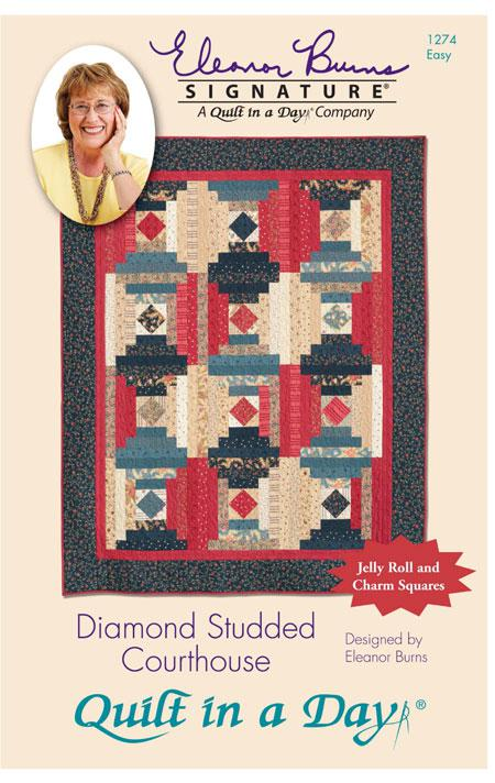 Diamond Studded Courthouse Pattern by Quilt in a Day