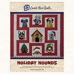 Holiday Hounds Applique Machine Embroidery Designs