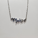 The Quilt Spot Maker Necklace Silver