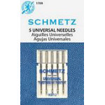 Notions Sewing machine Needles Schmetz Universal 5-pk size 12/80