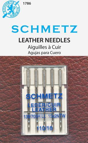 Schmetz Leather 5pk sz 110/18