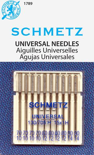 Schmetz Universal Machine Needles Assorted Sizes 10 pack