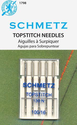 Art 1798 100/16 Topstitch 5pk Schmetz