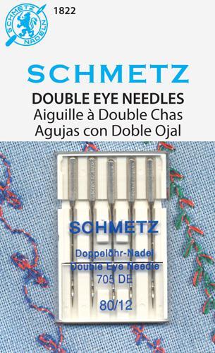 SCHMETZ 1822 Double Eye Needles 12/80