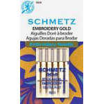 Schmetz Gold Embroidery 5-pk sz 11/75