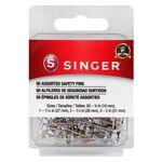 50 Assorted Brass/Steel Safety Pins