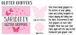 Gripper Sariditty Glitter Butterfly 27-Piece