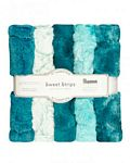 Luxe Cuddle Strips  10in x 60in 5pk Lagoon