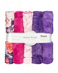 Luxe Cuddle Strips 10 in x 60in 5 pk Peony