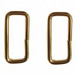 1-1/2in Wide Rectangle Rings Brass