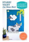 Starry Night Cow Bonus Block Pattern