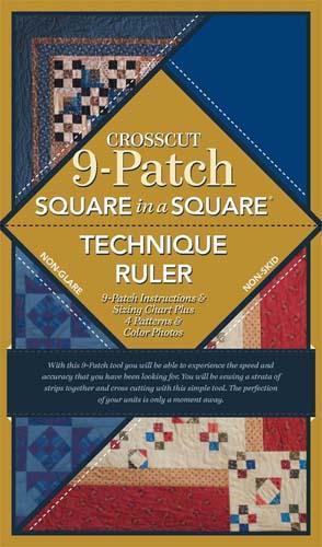 Square in a Square 9-Patch Crosscut Ruler