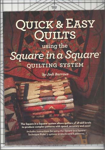 Quick & Easy Square in a Square Ruler with book