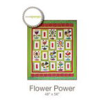 Flower Power Quilt Pattern by Sue Spargo - 48 X 56