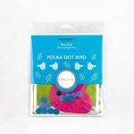Pre-cut Wool Kit by Sue Spargo - Polka Dot Bird 4