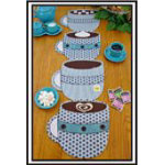 Pattern: Fill 'Er Up Coffee Cup Placemat/ Table Runner or Topper Pattern