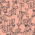 Avalana Sweat Peach Letters Knit