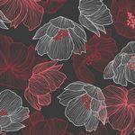 Avalana Jersey-Flowers Dark Red
