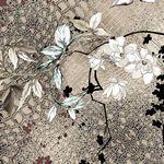 Avalana Jersey Flowers, Animal Print Sand