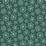 Nordic Hygge, Green Snowflakes, by Stof Fabrics