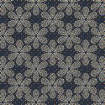 Stof Flower Dots, Black and Tan