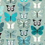 Flying Around-Large Butterflies Turq