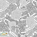 Fabric-Stof Quilter's Combination Newsprint White