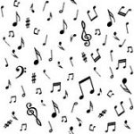 Blank Music Notes Black on White