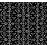 Quilters Harmony-Geo Flowers, Black/White