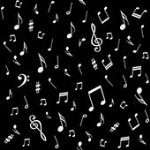 Quilters Harmony-Musical Notes, Black/White