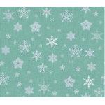 Glimmering Silver-Snowflakes, Medium Grey