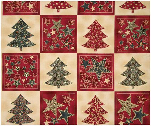 Enjoy Christmas-Star/Tree BlocksRed/Grn/Ivry