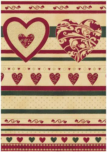 Christmas Greetings-Border StripeGold Multi/Tan Fab:Christmas Greetings-Border ...